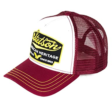 bec04177fc1fd3 Stetson Hats American Heritage Trucker Cap - Wine: Amazon.co.uk: Clothing