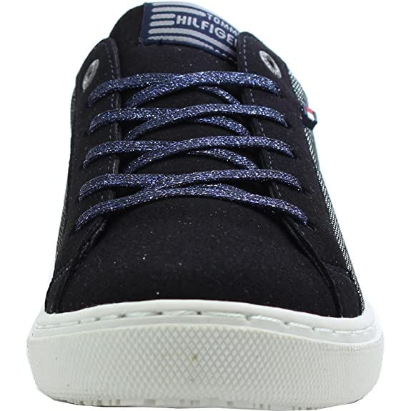 Tommy Hilfiger W3285oolie Jr 2C Midnight Textile Youth Sneakers:  Amazon.co.uk: Shoes & Bags