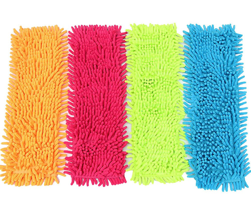 Dinlong Home Cleaning Pad High Quality Scrubber with Non-Scratch Anti-Grease Technology - Reusable – Green Dust Mop Head Replacement (Blue)