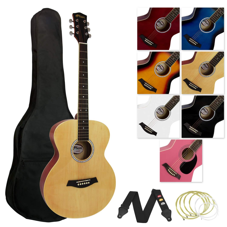 Tiger - Guitarra acústica (incluye accesorios), color natural ...