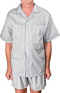 AdoniaMode Herren Shorty Pyjama Schlafanzug Kurze Hose Batist Trocknergeeignet Mod.Ben, Gr.48-62