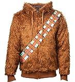 Star Wars Zip Hoodie Furry Chewbacca Costume Official Mens Brown Reversible