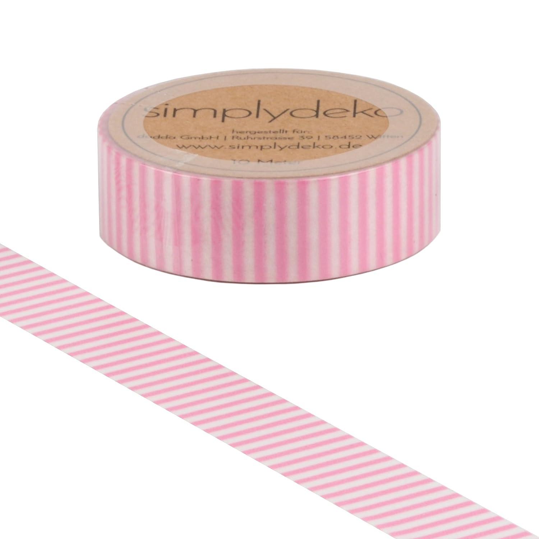 Simplydeko Washi Tape Wundervolles Washitape Bastel-Klebeband aus Reispapier Masking Tape Streifen und Karo Graue Raute