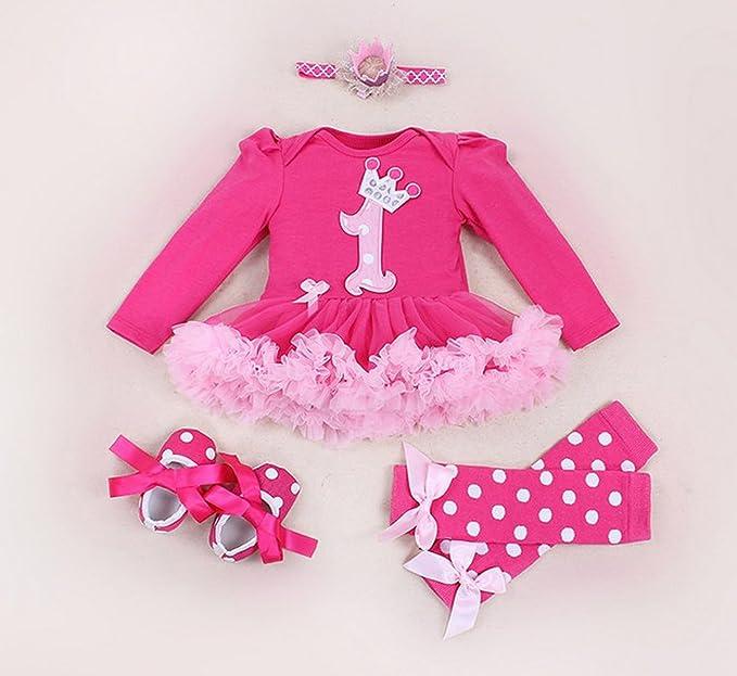 Amazon Com Marlegard Baby Girls 4pcs Hot Pink 1st Birthday Tutu