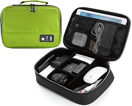 LUCKLYSTAR Organizador Accesorios Electrónicos, Estuche Organizador Cables, Estuche Organizador Universal para iPad Mini 4, Estuche Viaje para iPad Mini 4, Estuche Electrónico portátil 1PCS: Amazon.es: Hogar