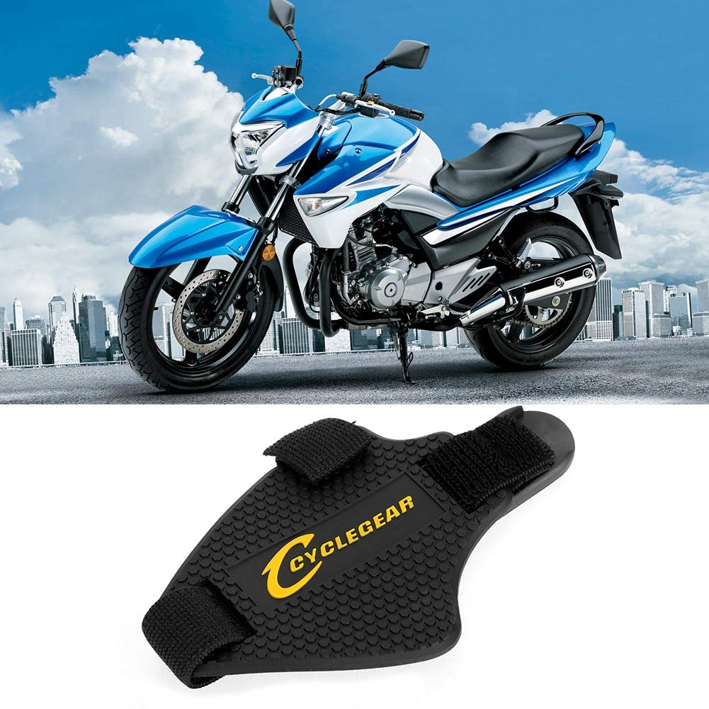 Black Senyar Motorcycle Gear Protection Shoe Cover,Rubber Universal Shift Pad Shoes Cover Boots Scuff Protector Shifter Guards