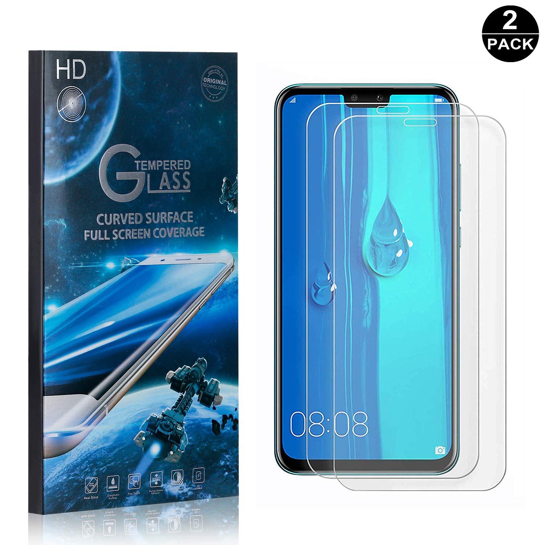 SONWO Cristal Templado Huawei Y9 2019, Anti-burbujas, Anti ...