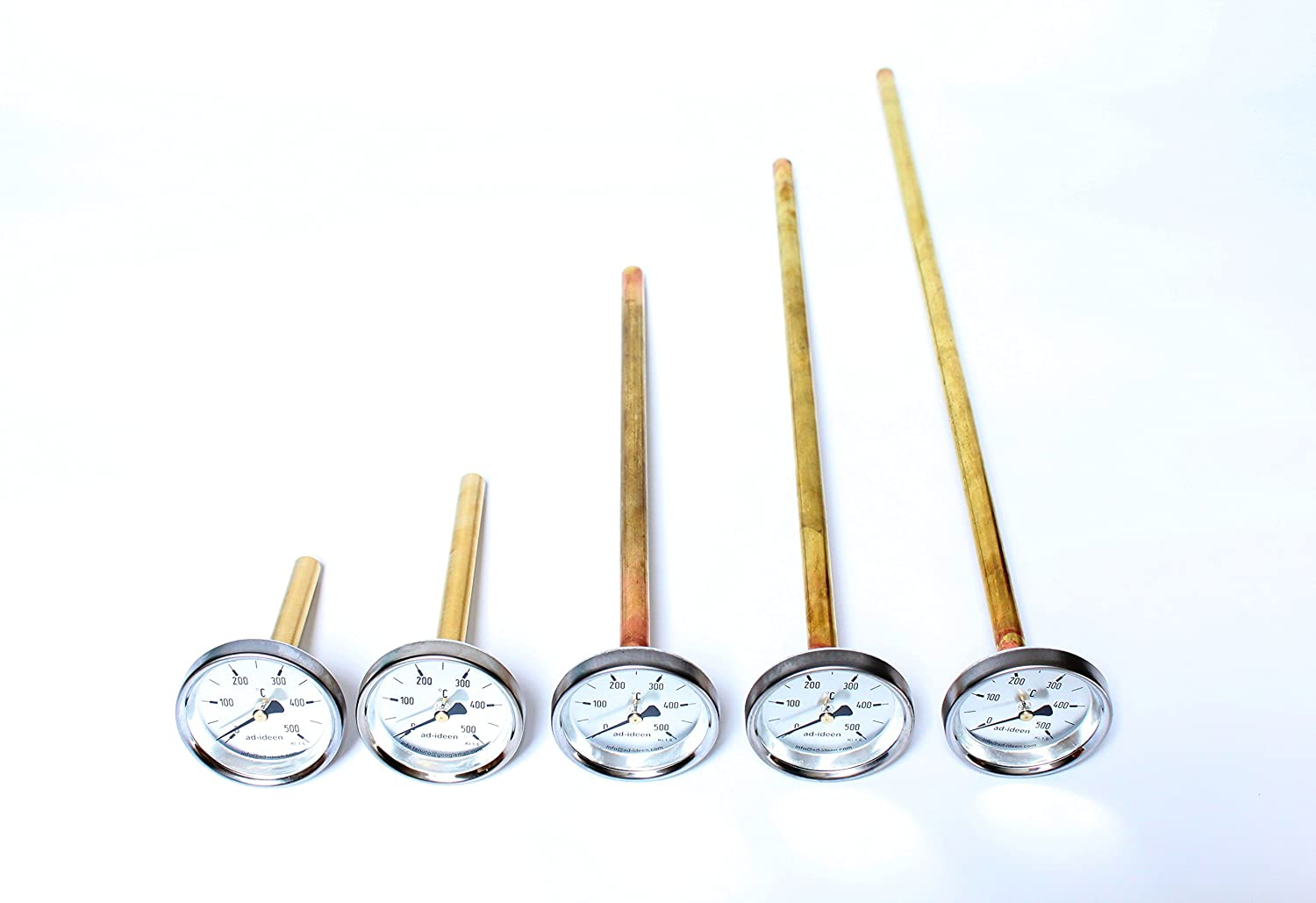 ad-ideen 500/°C Thermometer Ofenthermometer Holzbackofen 10 cm