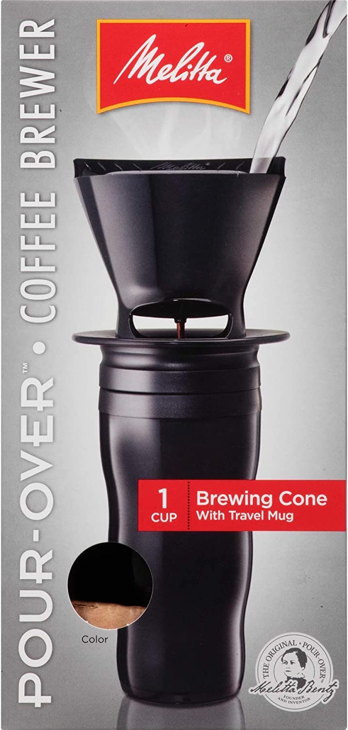 Melitta Cone Pour-Over Coffee Brewer and Ready Set Joe Mug