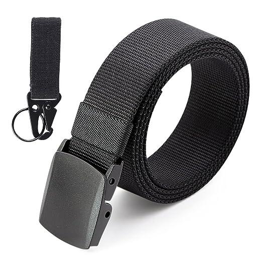 3ZHIYI Plástico Hebilla Nylon Mens Cinturones De Estilo Militar Ligero 49, 2