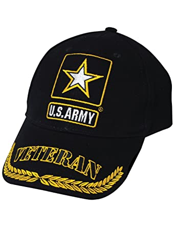 Amazon com: EAGLE EMBLEMS, INC  US Army Symbol Veteran Cap