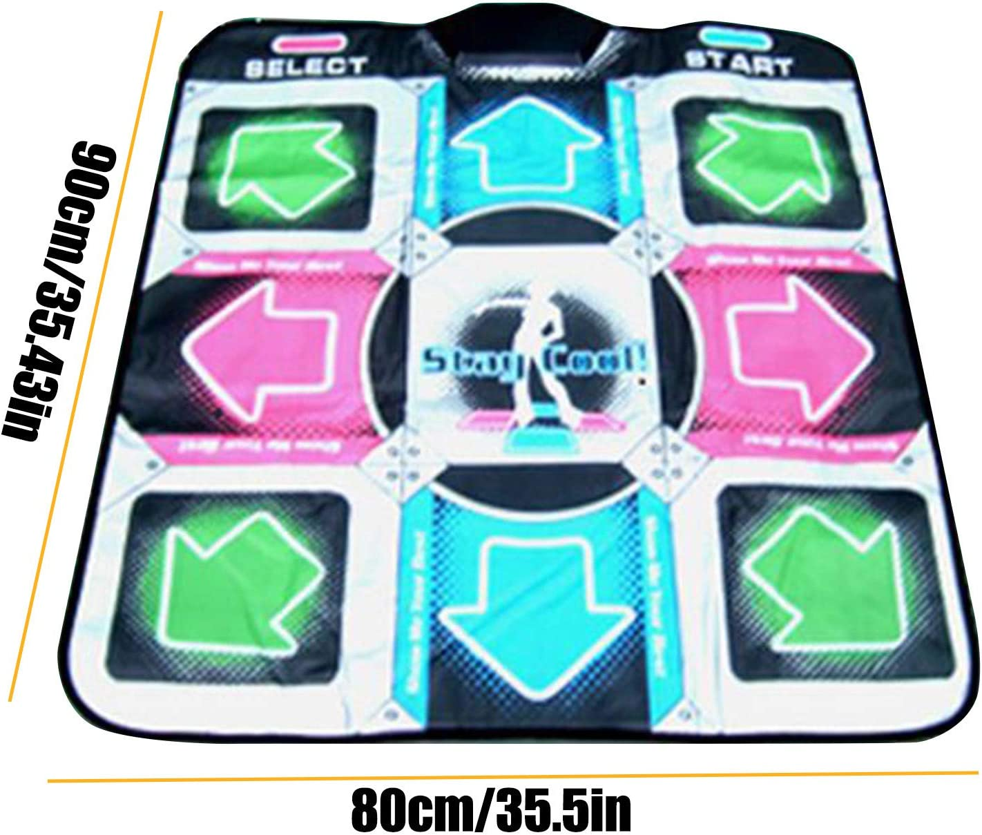Dance Mat for Kids Adults Women,Non-Slip Wireless Dancer Step Pads With Rich types AUX Music,High Sensitivity,Multi-Function Games/&Levels,Plug and Play,Sense Game for PC For 1 Person B
