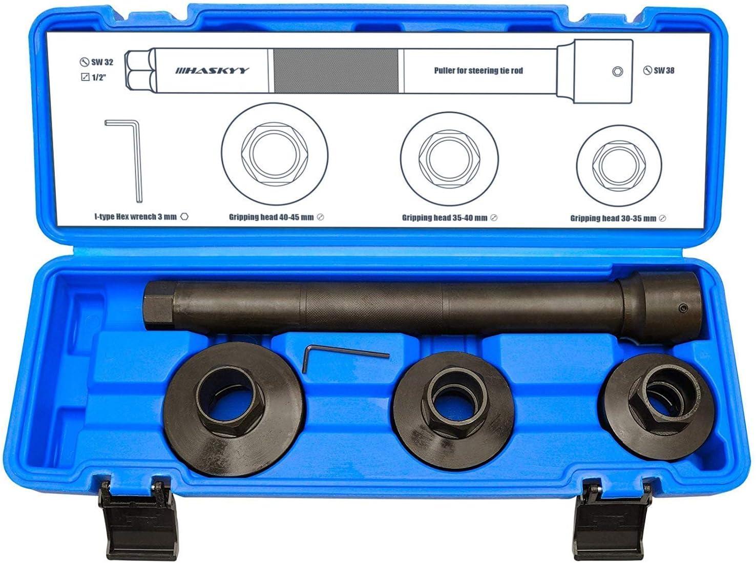 HASKYYY Articulación axial Tiradores de llave I 4 piezas para Juego de Herramientas para Axial Rótula para Barra de Acoplamiento Intercambio I Automóviles Montaje Desmontaje