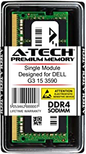A-Tech 16GB RAM for DELL G3 15 3590 | DDR4 2666 SODIMM PC4-21300 1.2V 260-Pin Memory Upgrade Module
