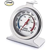 Oven Thermometer Digital Stainless Steel Oven Monitoring Thermometer 100 to 600 Degrees F Temperature Range