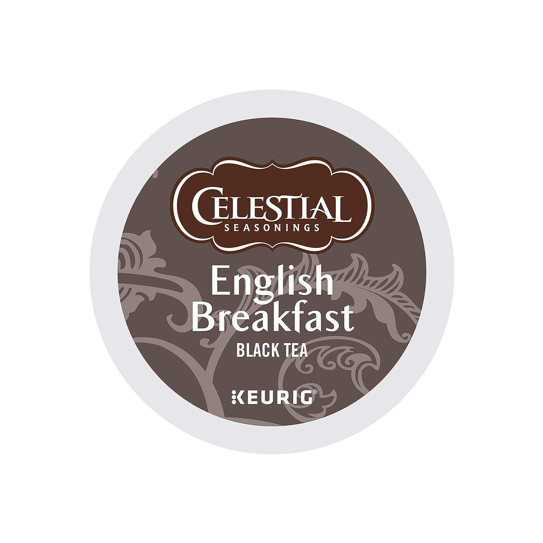 Celestial Seasonings English Breakfast Black Tea, Single-Serve Keurig K-Cup Pods, 72 Count