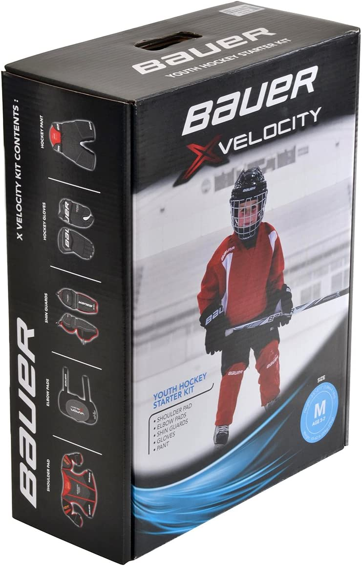 Childrens Gloves Bauer Ice Hockey Prodigy and Shin Guards for Kids