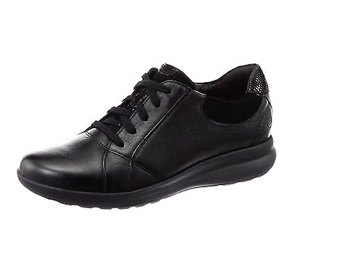 4c802d959e27c5 Clarks Un Adorn Lace Leather Shoes in Black  Amazon.co.uk  Shoes   Bags