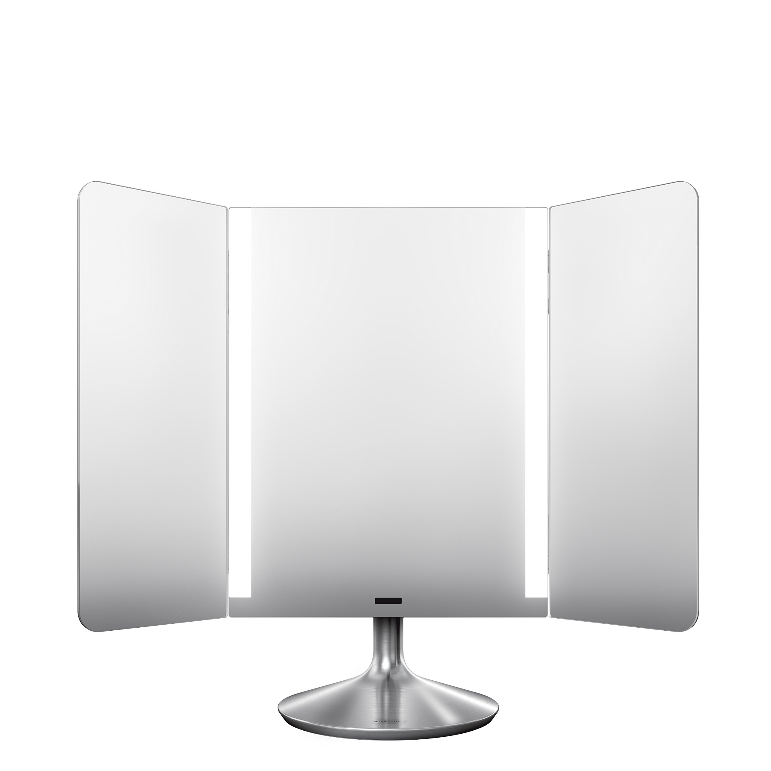simplehuman Sensor Lighted Makeup Vanity Mirror Pro Wide View, 1x + 10x Dual Magnification, Stainless Steel, Rechargeable And Cordless by simplehuman (Image #4)