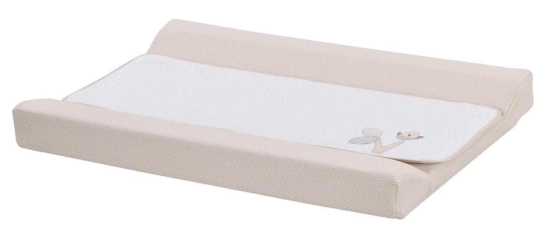 Cambiador bebe interior plastificado Bordado PARAJITO ARBOL. Desenfundable. Color Beige. Medida 80x53 cm. Válido para cómodas, bañeras y convertibles. KOKETES. MOBIBE
