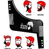 Barba plasmare e strumento di styling con pettine integrato per una perfetta line up e bordatura, usare con un trimmer la barba o rasoio per lo stile la barba e peli sul viso, prodotto di qualità Premium per la barba nera