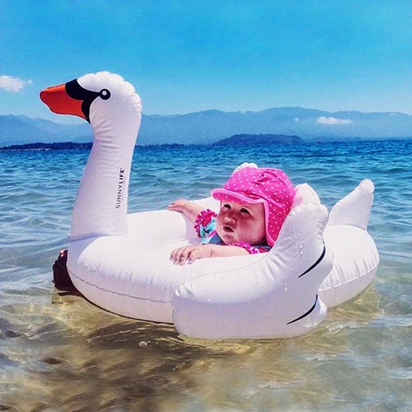 ZEEUPAI - Cisne Blanco Flotador de Piscina Inflable para niños Asiento Flotante para bebé (Cisne Blanco): Amazon.es: Juguetes y juegos