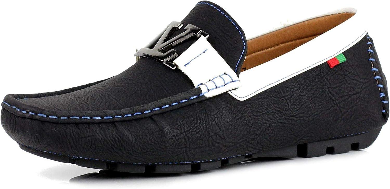 Zapatos Para Hombre Informales Conducción Diseñador Mocasines Mocasines Sin Cordones Moda Italia Estilo negro GB