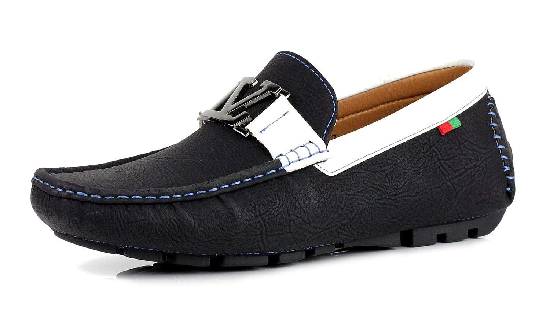 TALLA 42 EU. Zapatos Para Hombre Informales Conducción Diseñador Mocasines Mocasines Sin Cordones Moda Italia Estilo negro GB