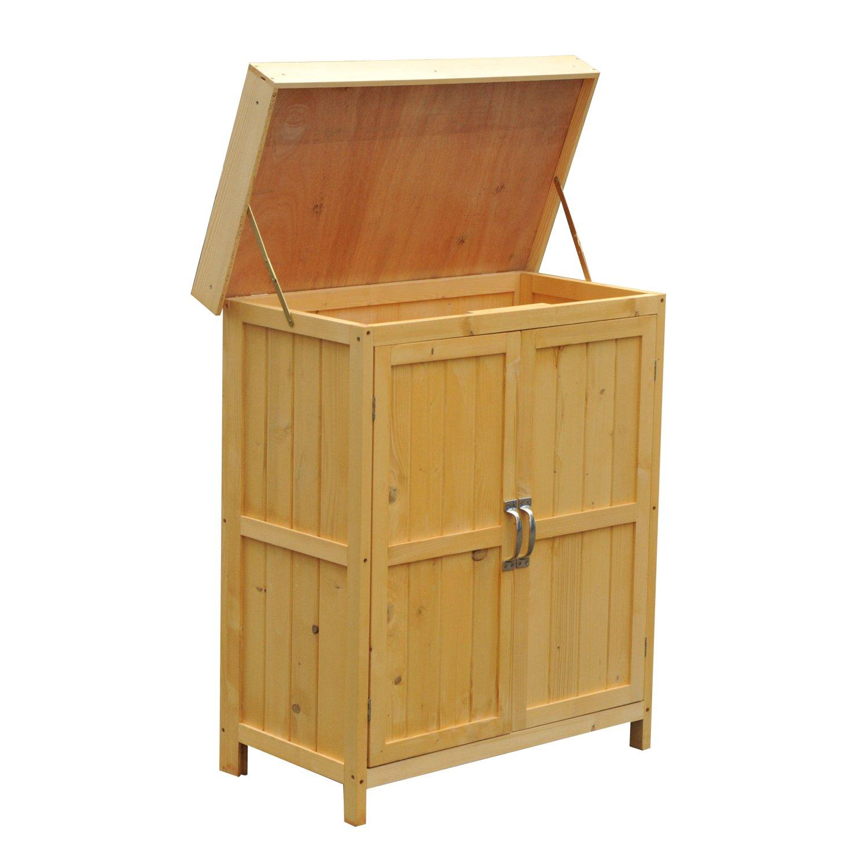Armadio ripostiglio da esterno for Mobile esterno legno