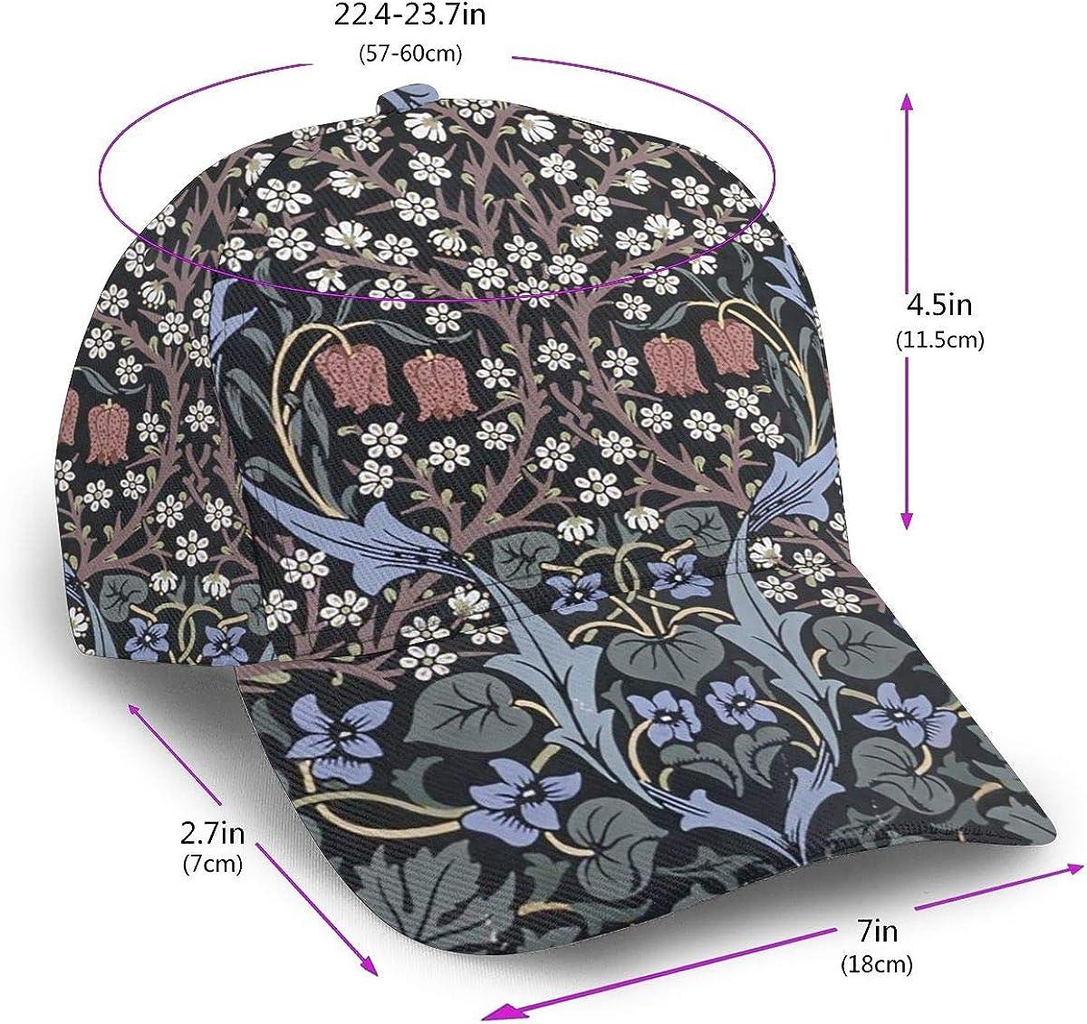 Kunming~ Vines and Flowers Boy Washed Denim Cotton Baseball Cap Sport Outdoor Adjustable Hats