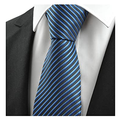 Black and blue striped men's tie