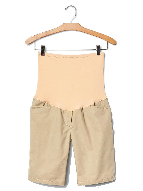 ef79787f86680 GAP Full Panel Khaki Boyfriend Maternity Shorts at Amazon Women's Clothing  store:
