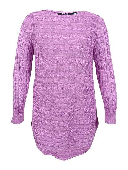 46a9e9aece LAUREN RALPH LAUREN Plus Size Cable-Knit Cotton Blend Sweater