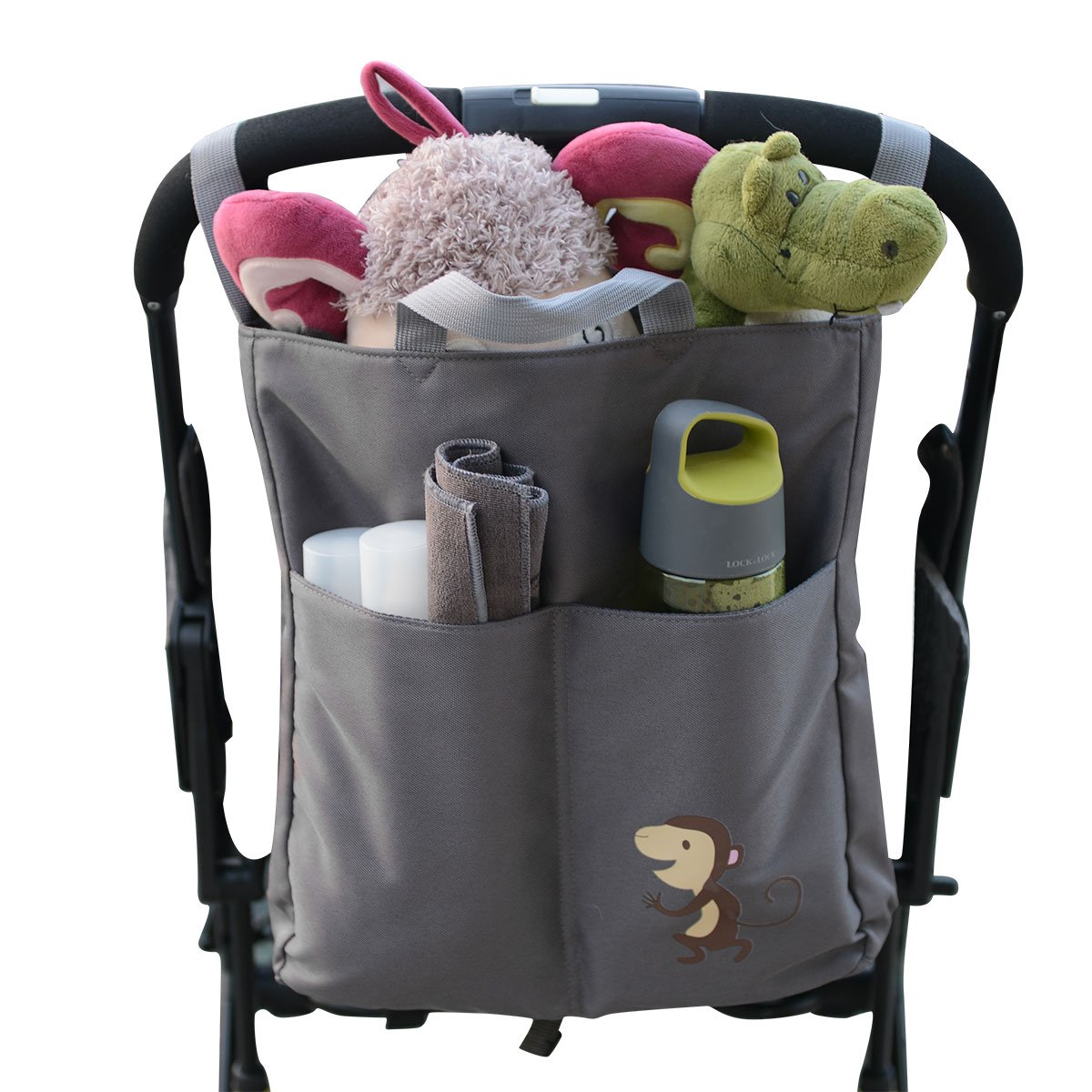 3 in 1 Multifunctional Stroller Organizer with Shoulder Strap, Baby Stroller Bag with Extra-Large Storage Space for iPhones, Wallets, Diapers, Books, Toys, Shoulder bag and Tote Bag by Yotree