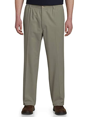 f2b58cec82 Harbor Bay by DXL Big and Tall Elastic-Waist Pants at Amazon Men's Clothing  store: