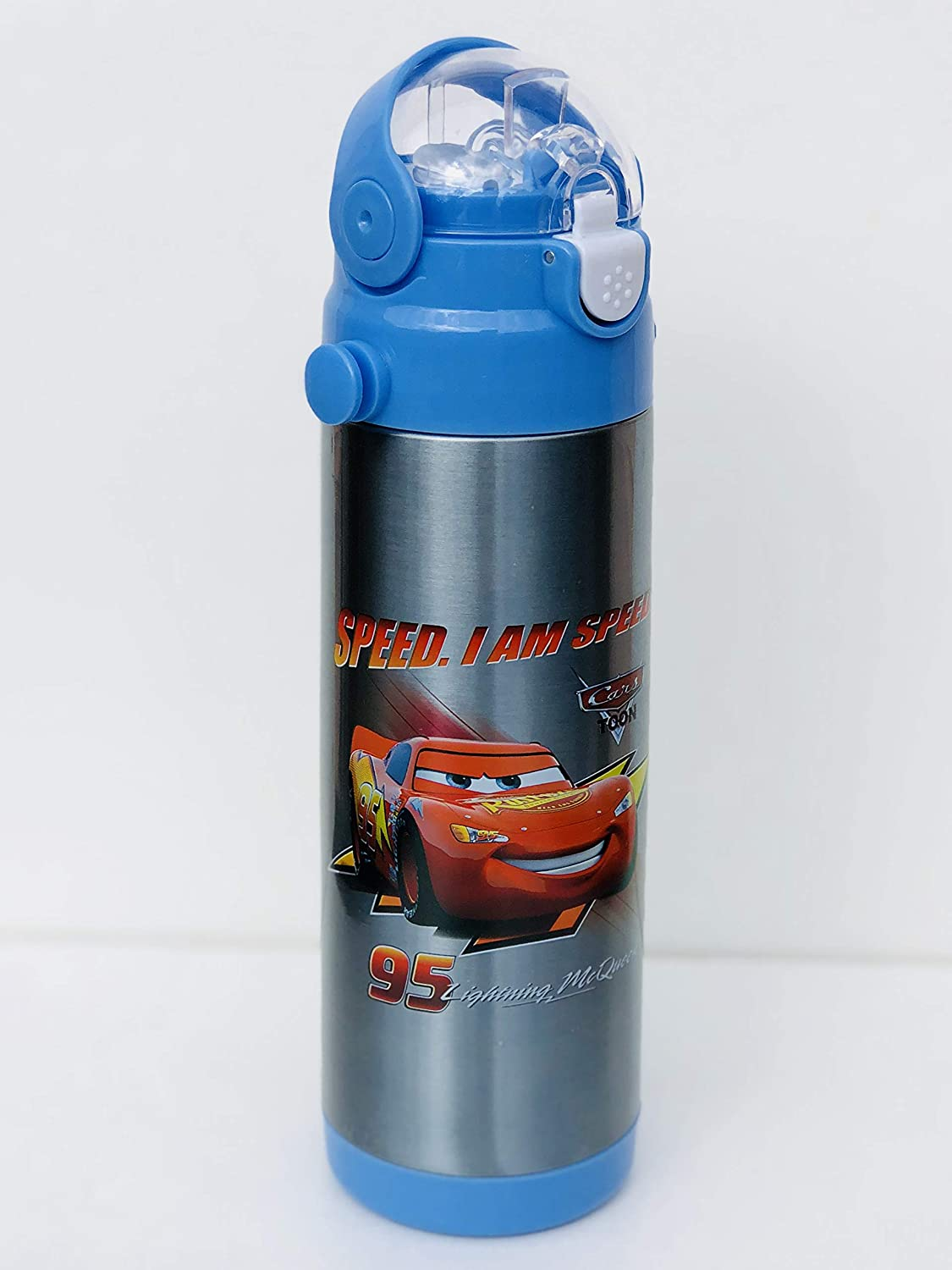Character Kids Water Bottle Cars 500 ml Bottle for School, Flask Bottle for Sports, Camping, Cycling, Staying Hydrated, Favourite Kids Character Forever