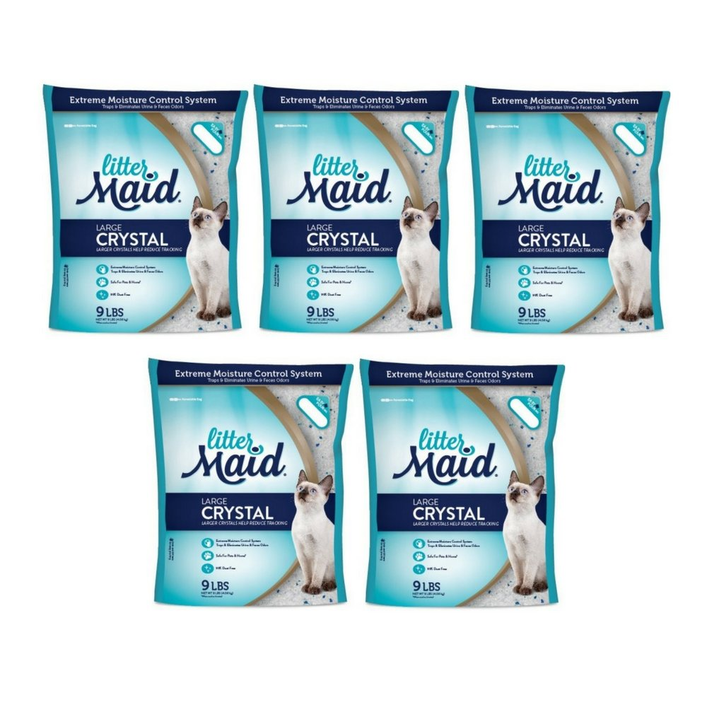 LitterMaid Large Crystal Litter, 9 lb (5 PACK)