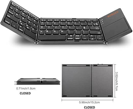 Mini Wireless Bluetooth Keyboard with Mouse TouchPad for PC iPad Mac Android TV