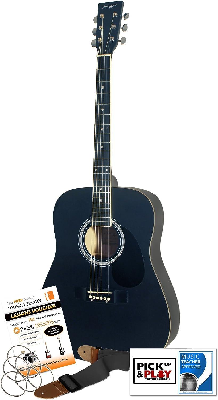 Martin Smith W-600-BK-MT - Guitarra acústica, color negro mate ...