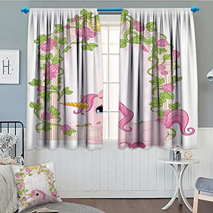 Teen Girls Decor Collection Home Decoration Thermal Insulated Romantic  Floral Arch Frame Roses Leaves with Unicorn Decorating Illustration Design  ...