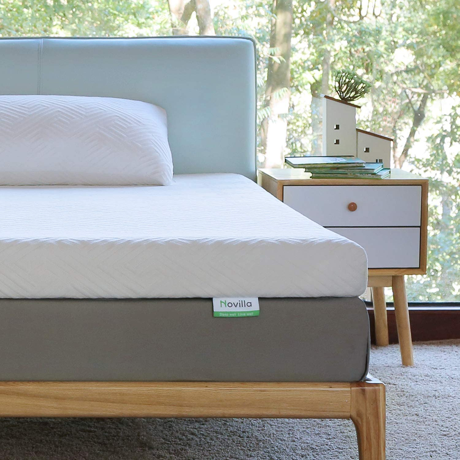 Novilla Mattress Topper Twin, 3 Inch Dual LayerMemory Foam Mattress Topper Enhance Cooling,Supportive & Pressure Relieving,with Washable Bamboo Cover,Twin Size