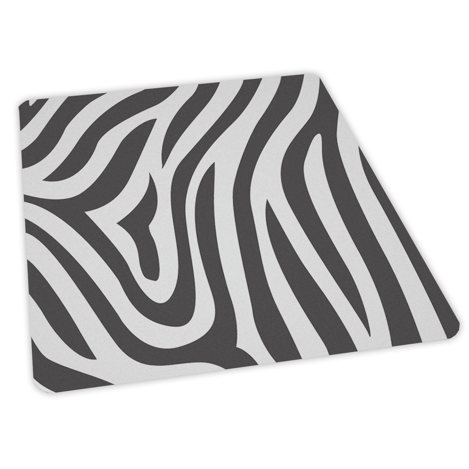 ES Robbins Trendsetter Rectangle Zebra Printed Office Chair Mat for Low Pile Carpet, 36 by 48-Inch 118750