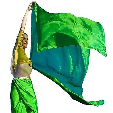 538ae19d3 Nahari Silks Womens 100% Silk Dance Scarves Shawls Wraps Solid Colors  Amazon 275 cm x