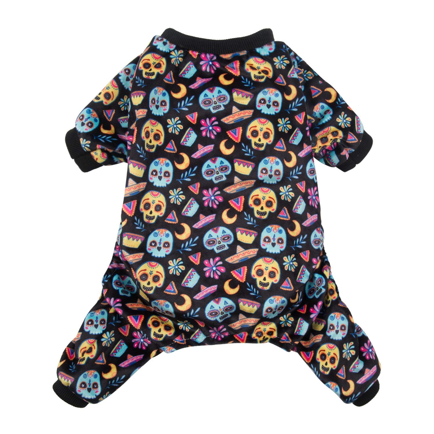 CuteBone Dog Pajamas Coco Skulls Dog Apparel Dog Jumpsuit Pet Clothes Pajamas P73S by CuteBone