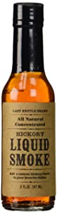 Lazy Kettle Brand All Natural Liquid Smoke | Perfect for Flavoring Meat | Hickory | Used to Flavor Beef Jerky, Steak, Fish, Cheese, Sauces and More | 5 Oz Each
