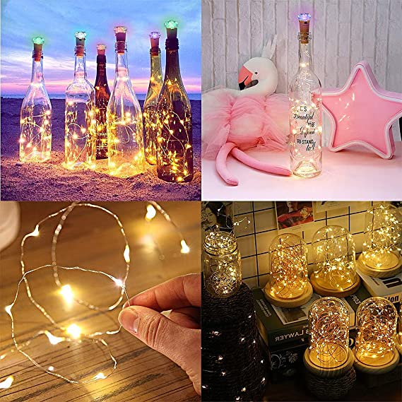 LED Botella String Lights, sombrero Toly 6 unidades USB Cork Bottle Fairy Wire Lights: Amazon.es: Iluminación