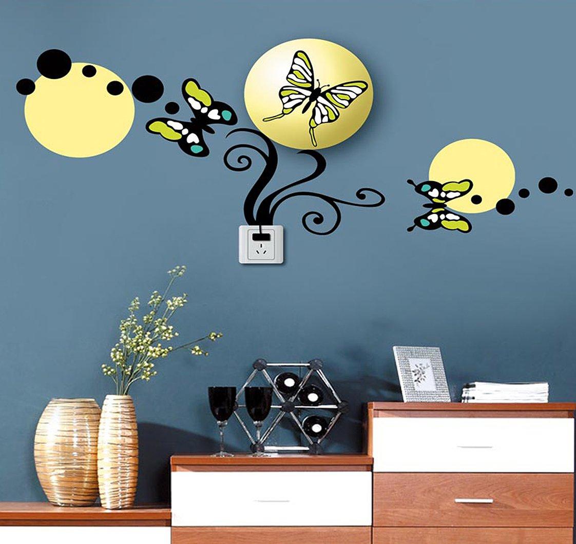 Vinilo Decorativo Pared [0JUHFUAO] mariposas de ensueño