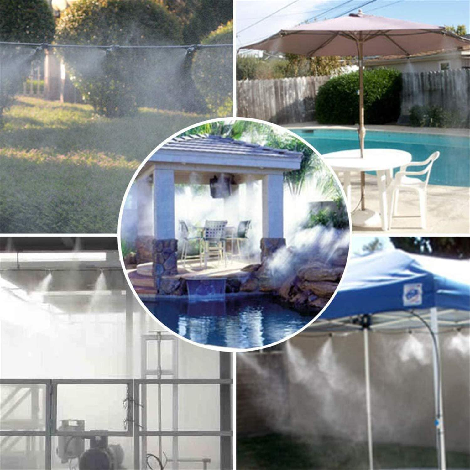 Smart Misting System, with Adjustable Misting Interval - Instant Water Vaporization & Maximum Cooling Effect, Various Specifications,8m 23m