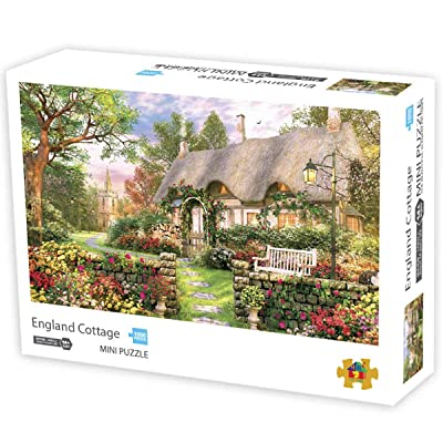 Jigsaw Puzzles 1000 Pieces Puzzles for Adults Micro-Sized Puzzles England Cottage Jigsaw Puzzles: Toys & Games
