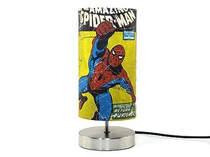 Marvel Avengers Spiderman Lampe Abat Jour Chambre A Coucher Table De